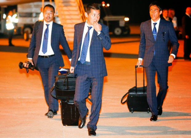 Japan arrives in Brazil