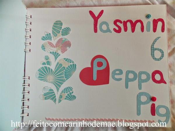 Caderno de mensagem para festa com a Peppa