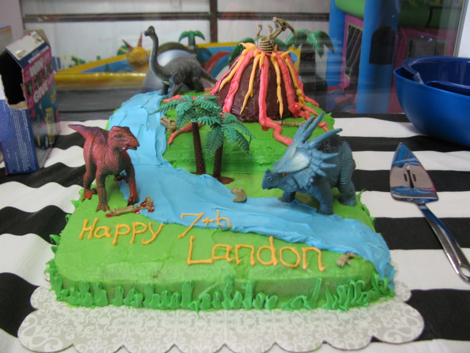 Banana Lala Dinosaur Cake For Nephews 7th Birthday