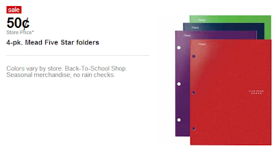 image regarding School Supplies Coupons Printable named Focus- Just take 2 5-Star Folders + Up Up Faculty Elements