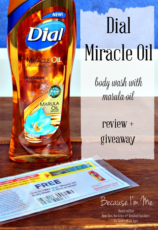 Dial Miracle Oil body wash with Marula Oil review and giveaway, enter now