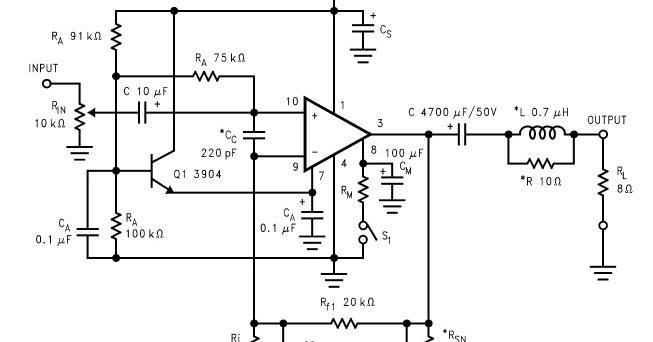 amplificateur de puissance audio 40w lm2876 genie electronique schema. Black Bedroom Furniture Sets. Home Design Ideas