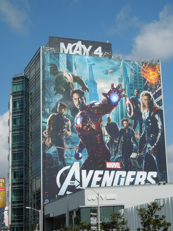 Giant Avengers movie billboard