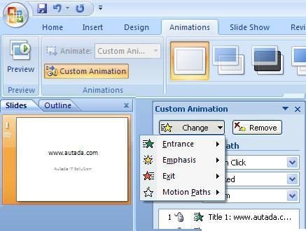 custom animasion