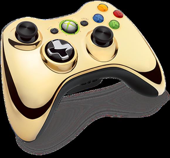 Gold Chrome Xbox 360 Controller UnveiledXbox 360 Controller Designs Gold
