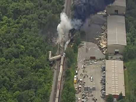 Train Carrier Slipping Chemicals, Loud Explosion Caused