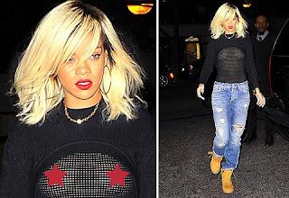 Rihanna transparent dress