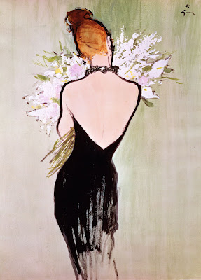 Rene Gruau fashion art
