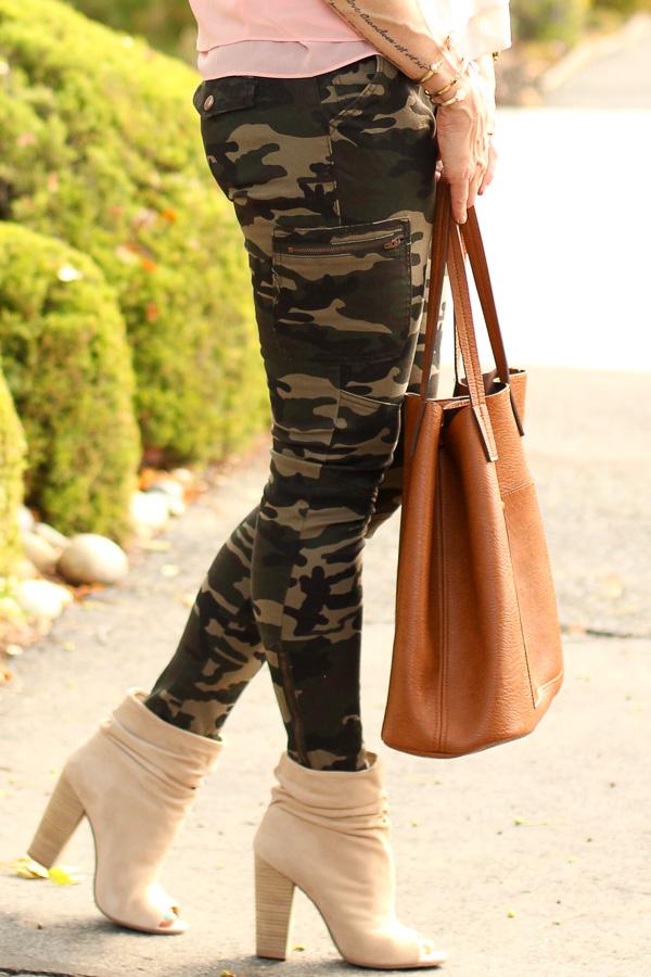 skinny cargo camo pants