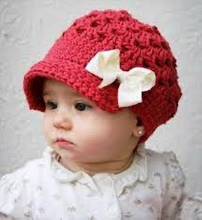 Gambar Topi Rajut Untuk Bayi Lucu Perempuan