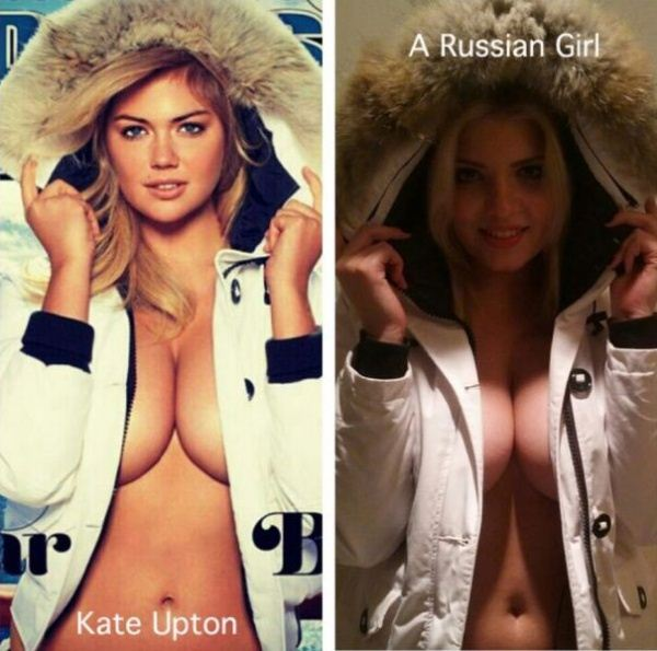 Kate Upton and Russian girl resemblance