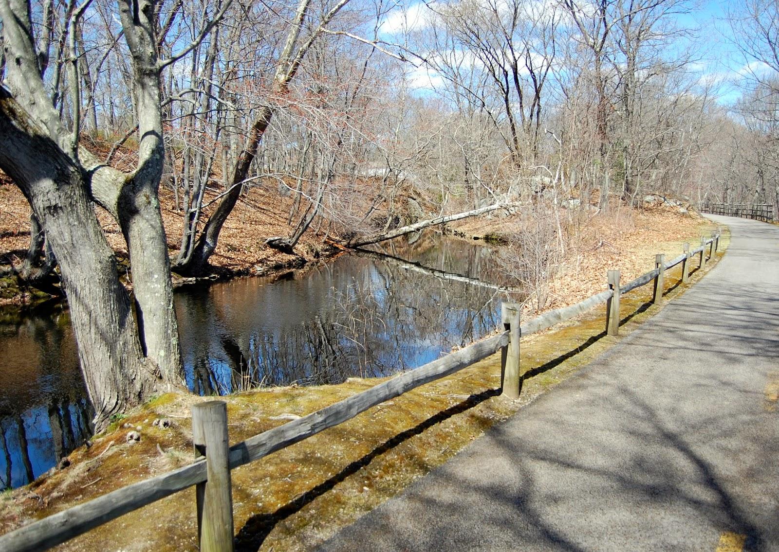 on the Blackstone River Bike Path near mile 10.5