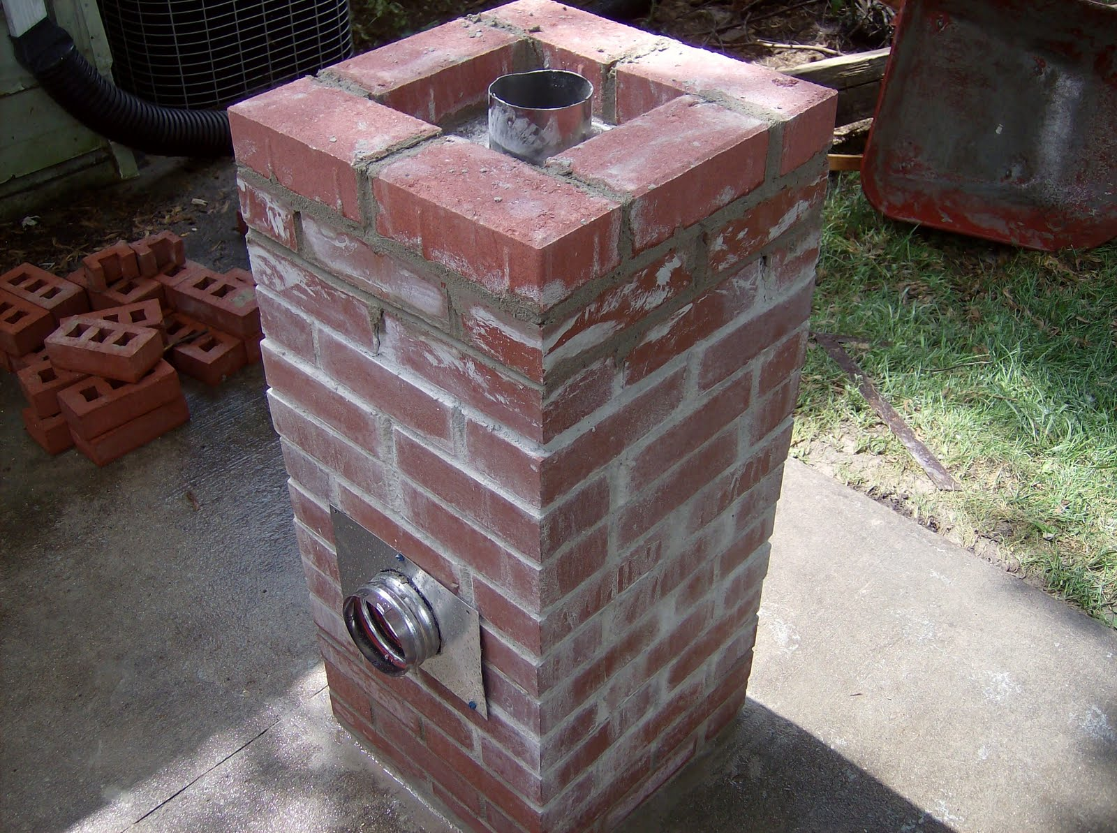 Newfound traditions rocket stove for beginners for How to make a rocket stove with bricks