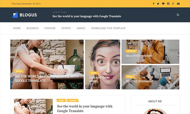 Blogus Responsive Blogger Teması