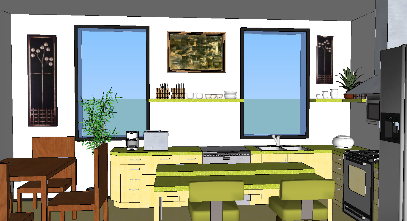Oreos Design Portfolio Sketchup Kitchen