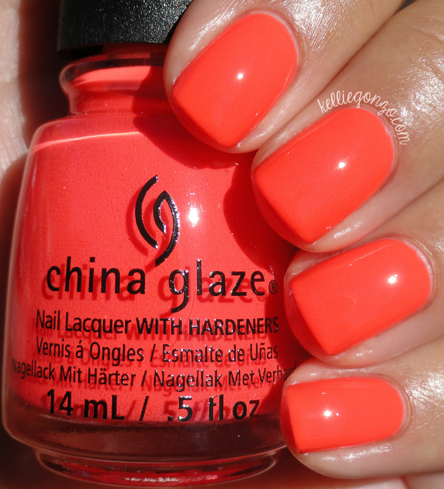 China Glaze Red-y to Rave Electric Nights