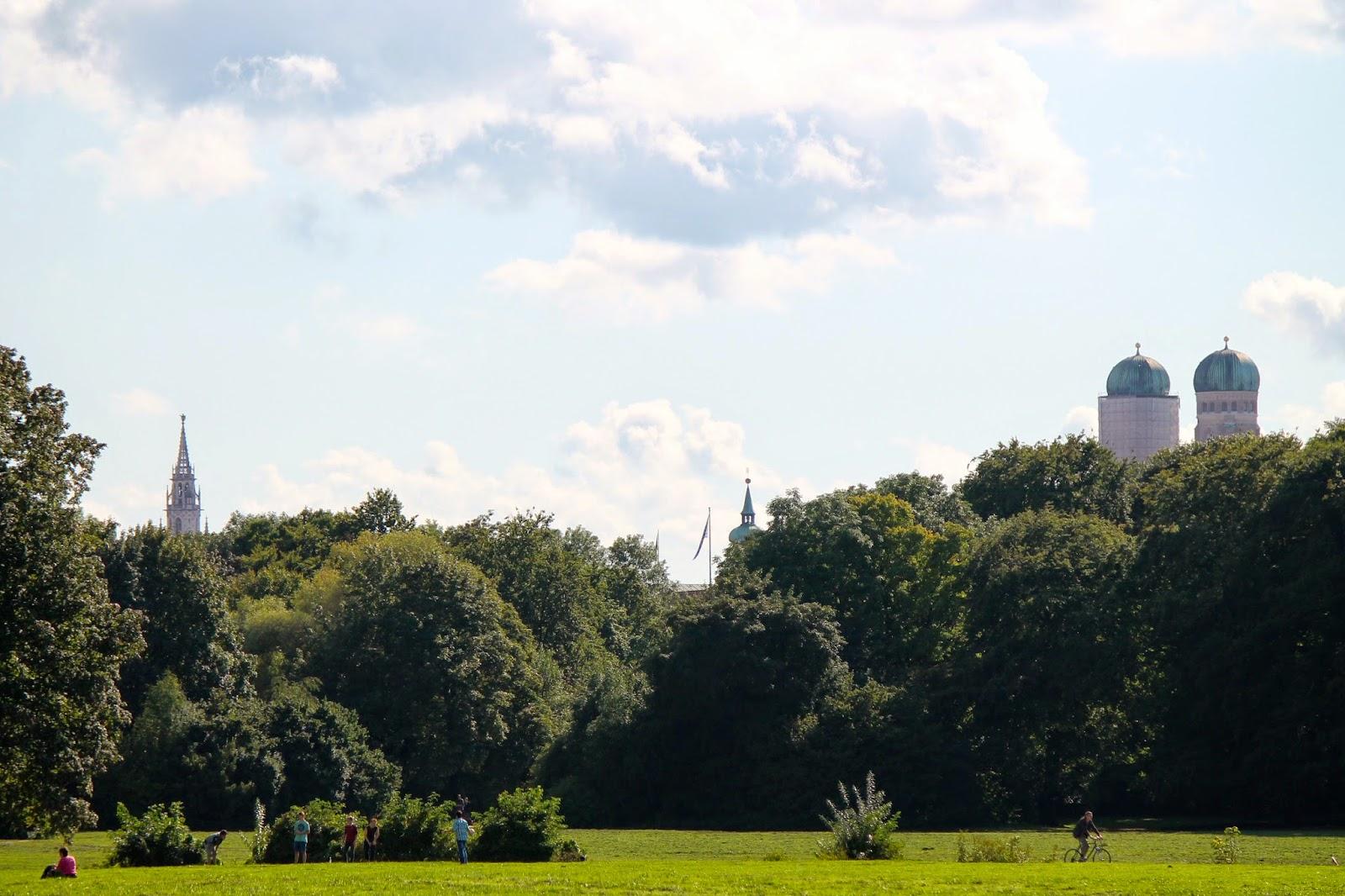 Vistas desde el Englischer Garten. ¡Munich! en Hitzen Mundua