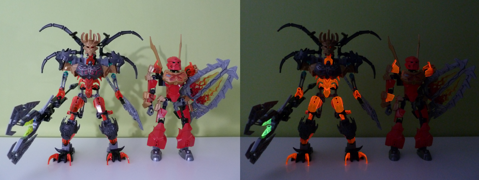 Rayques Blog Lego Black Light 70794 70795 Combination Model Bionicle Skull Scorpio When Comparing The New Tahu 70787 With Its A More Or Less Similar Height Difference Towards Older Warriors Their