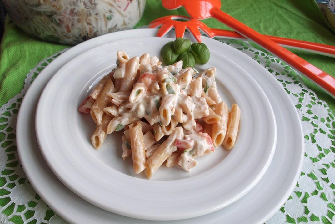 Arte en fogones ensalada de pasta integral con salsa blanca for Ensalada de pasta integral