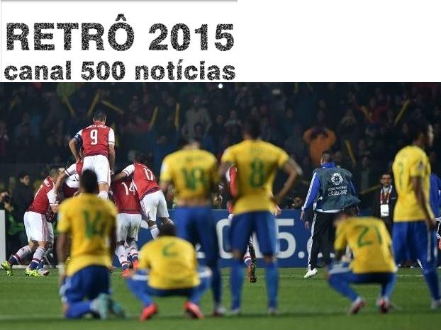 BRASIL É ELIMINADO NA COPA AMERICA 2015