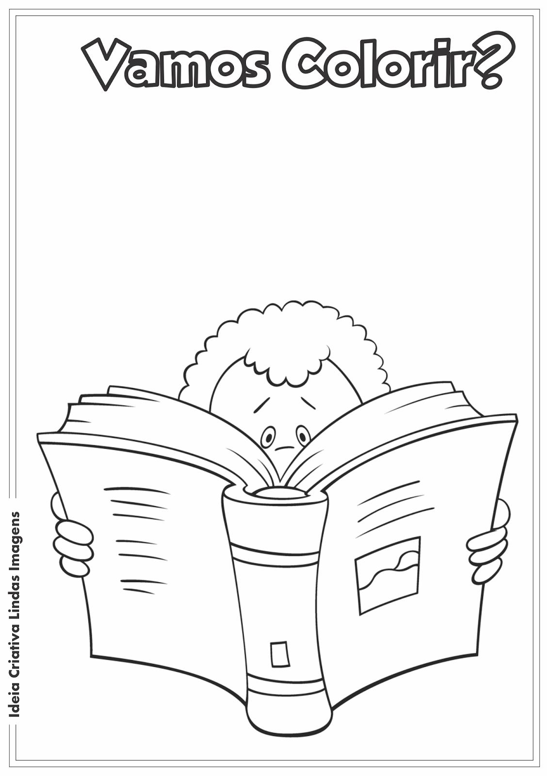 Desenho para colorir - Dia do Livro Infantil