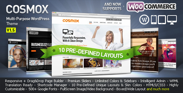 ThemeForest - COSMOX - Multipurpose WordPress Theme