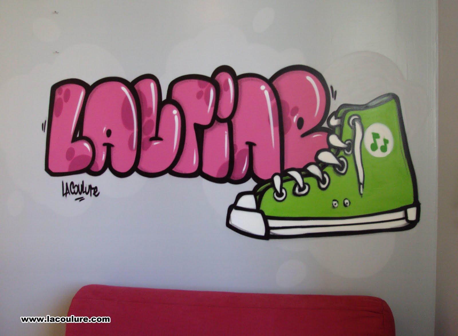 Collectif la coulure graffiti lyon graff chambre d 39 enfant converse - Graffiti prenom gratuit ...
