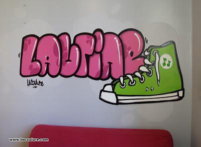 collectif la coulure graffiti lyon graff chambre d 39 enfant converse. Black Bedroom Furniture Sets. Home Design Ideas