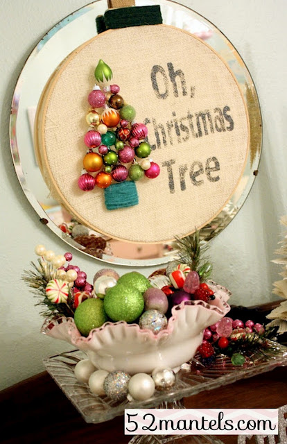 How to make this adorable Oh Christmas Tree Wreath from 52Mantels!!