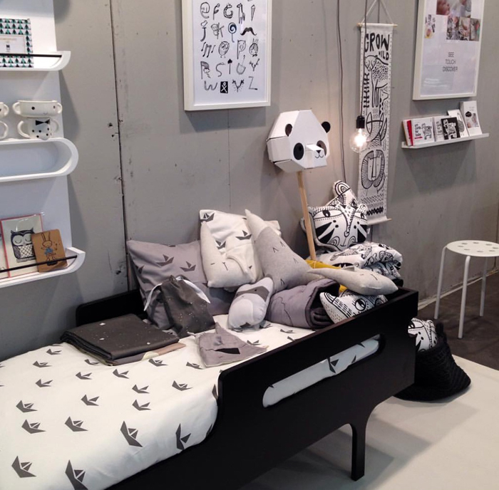 Rafa-kids toddler bed and Fablab textile at M&O in Paris