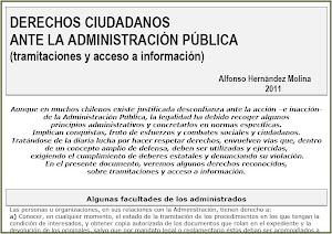 Cartilla sobre derechos ciudadanos ante la Administración Pública.