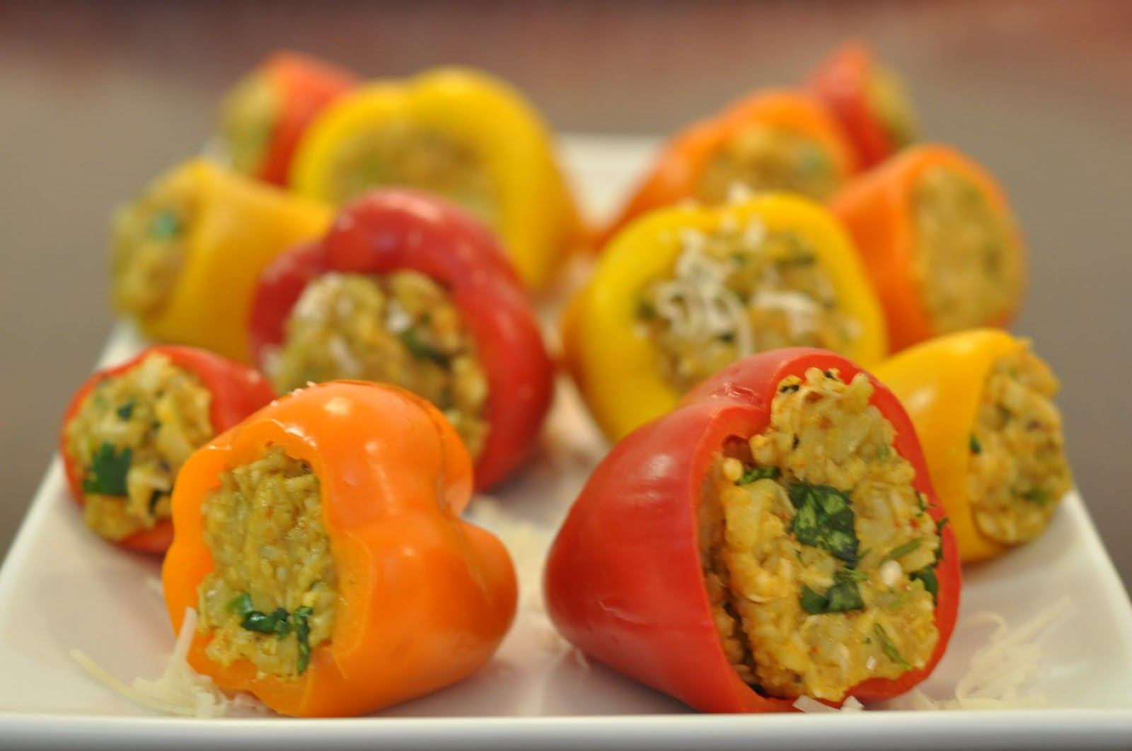 Spice Infused: Grilled stuffed mini bell peppers