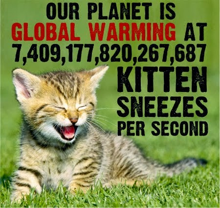 Waarom bandnaam Atomic Kitten - Kitten sneezes global warming - Skeptical Science