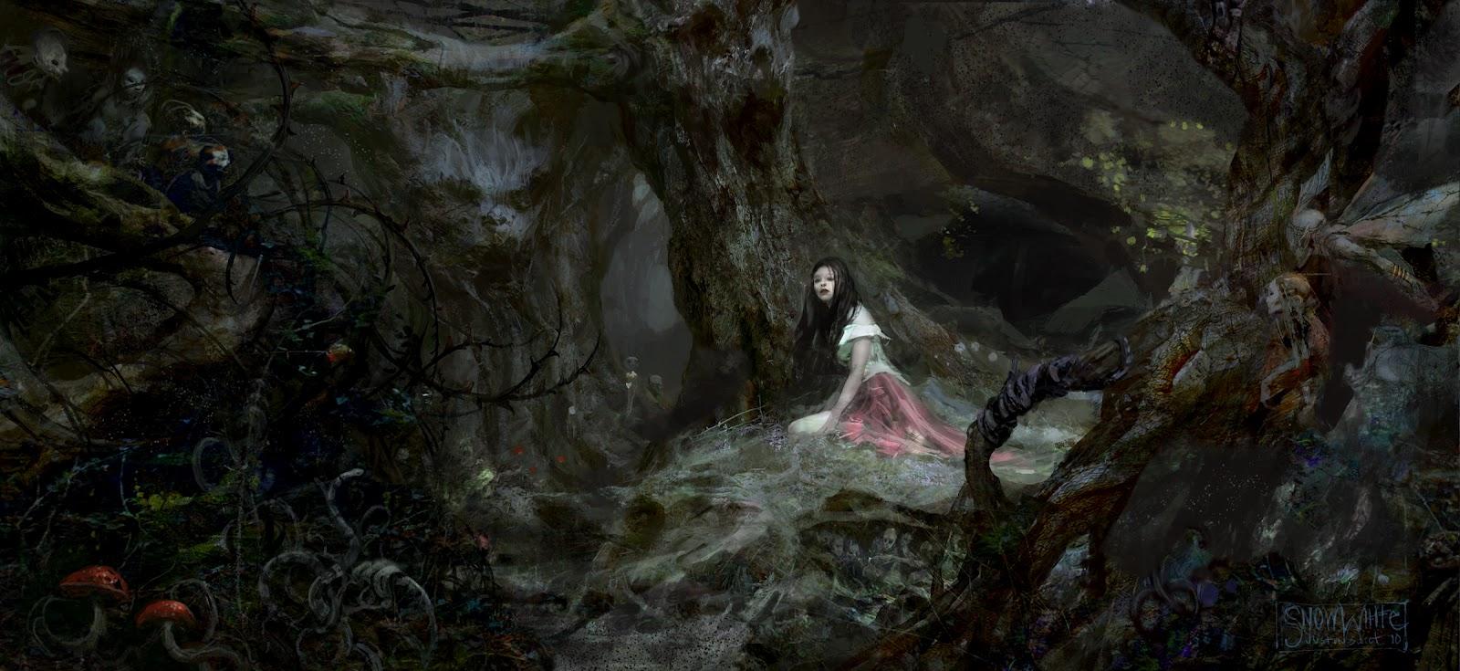 Лес темный арт