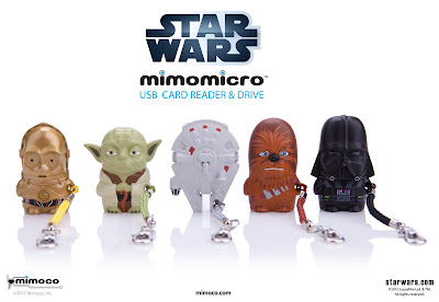 Star Wars Mimomicro Designer USB Card Reader &amp; Drive by Mimoco - C-3PO, Yoda, Millenium Falcon, Chewbacca &amp; Darth Vader.jpg