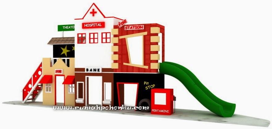 Desain kota playhouse profesi ini dibuat rumahpohonku untuk sekolah