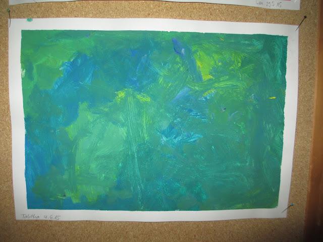 Gestalten mit Wasserfarbe mit Kindern