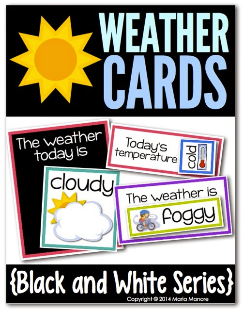 perfect weather cards for calendar time