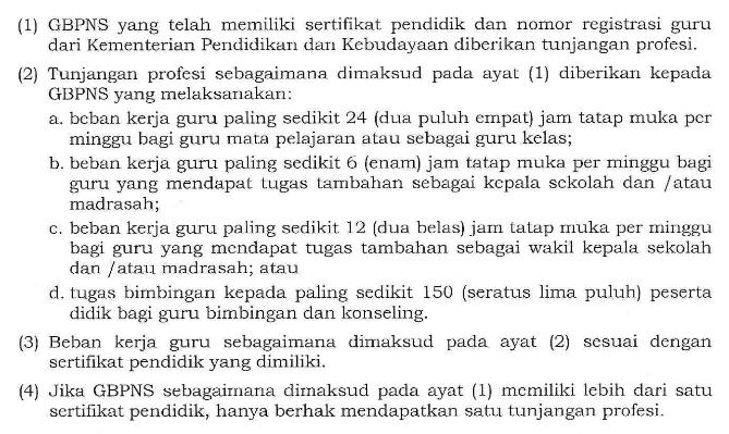 tunjangan profesi guru nin pns di lingkungan kementerian agama (kemenag) tata cara pembayaran, syarat mendapatkan tunjangan guru non pns kemenag