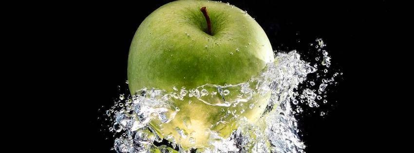 Couverture facebook personnalisée pomme