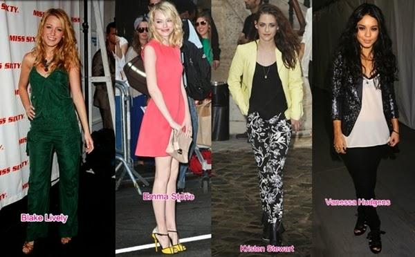 roupa celebridades em desfile de moda