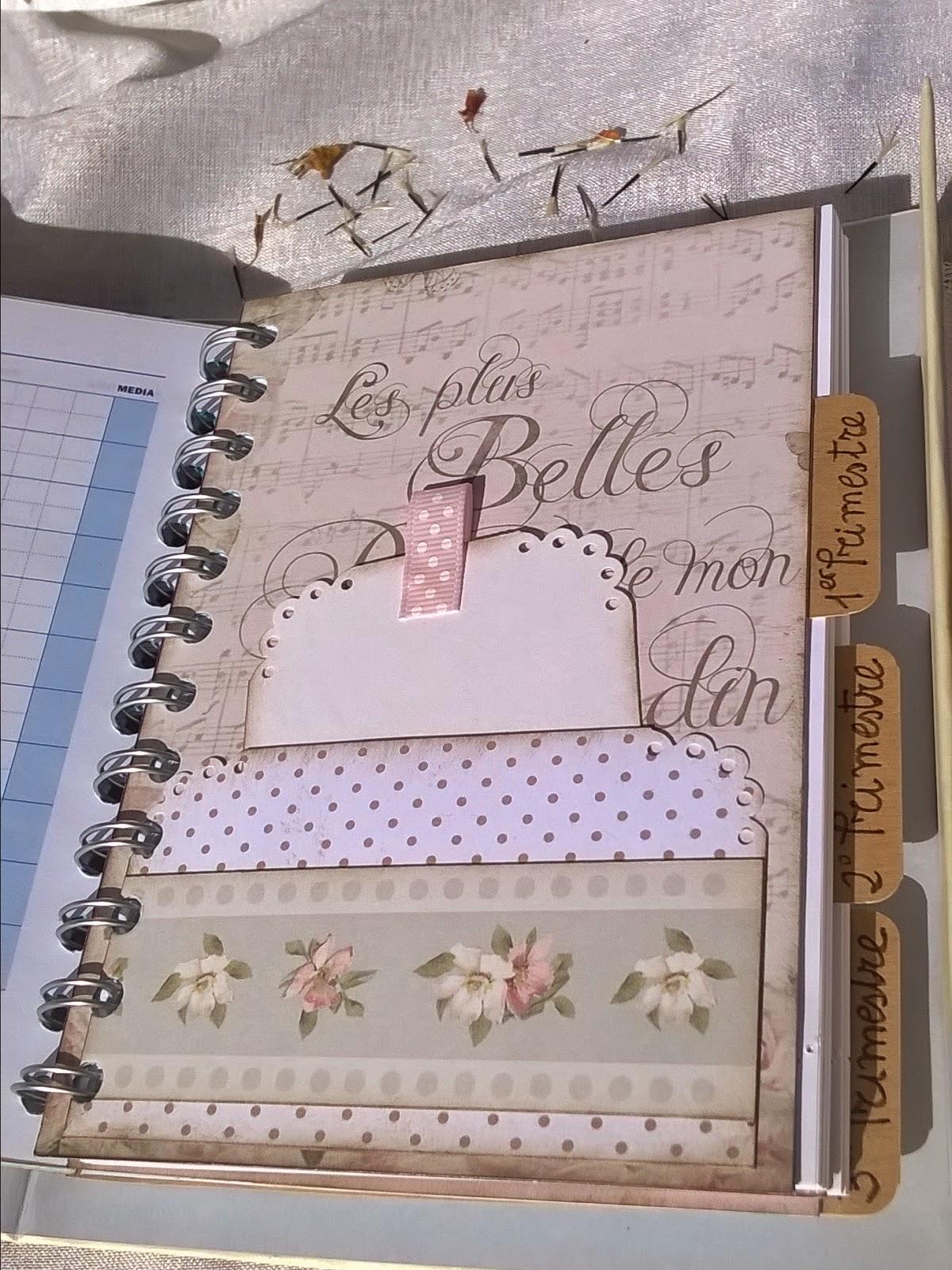 Los detalles de macu agenda escolar vintage - Como decorar una agenda ...