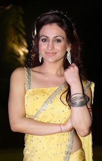 Actress Aksha Pardasany Latest Pictures in Yellow Saree at Dr Salim Audio Launch 49