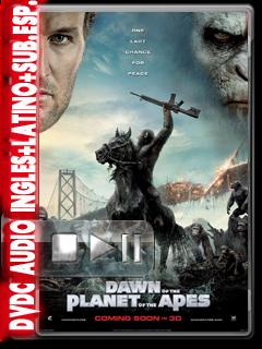 Dawn of the Planet of the Apes (2014) DVDC NTSC Calidad 720p HDScr Audio Inglé +Subs.Esp