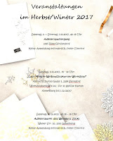 Veranstaltungen Herbst/Winter 2017