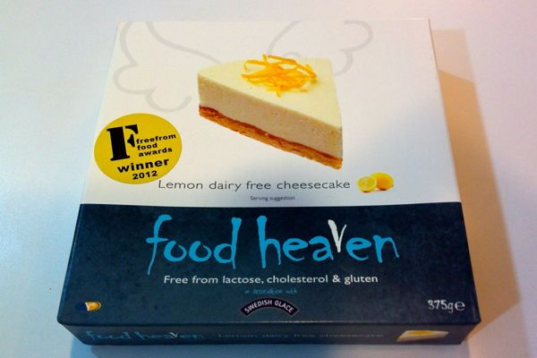 Food Heaven Lemon Dairy Free Cheesecake (vegan)