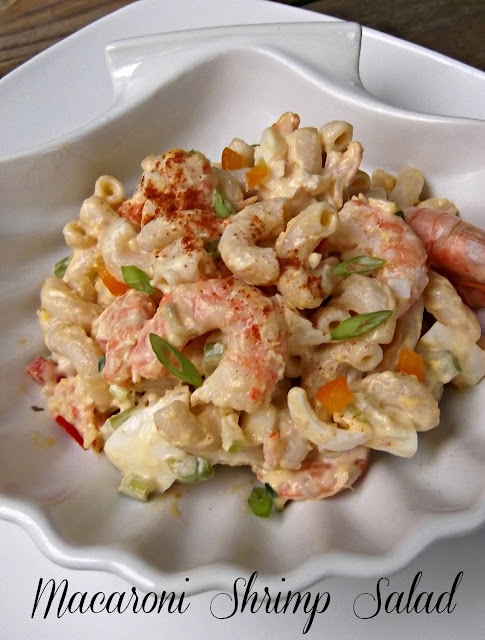 What 39 s for supper macaroni shrimp salad for Prawn and pasta salad recipes