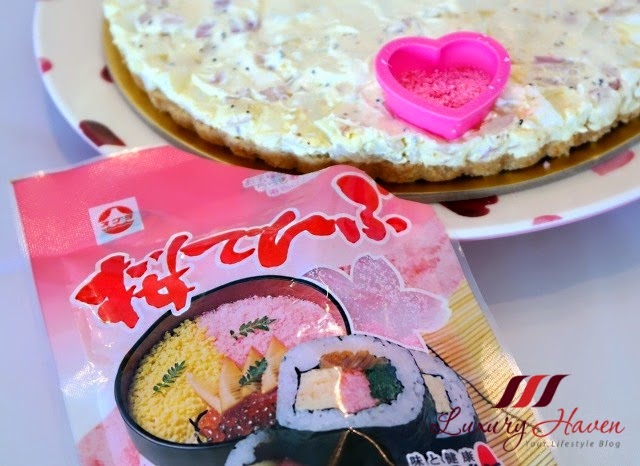 pink sakura denbu heart shape caviar tart recipe