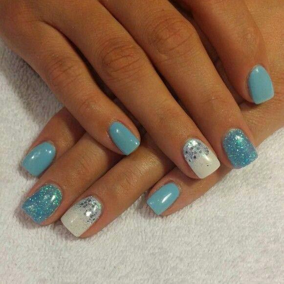 Acrylic overlay + LED polish manicure
