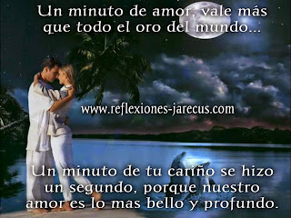 Un minuto de amor, vale más que todo el oro del mundo